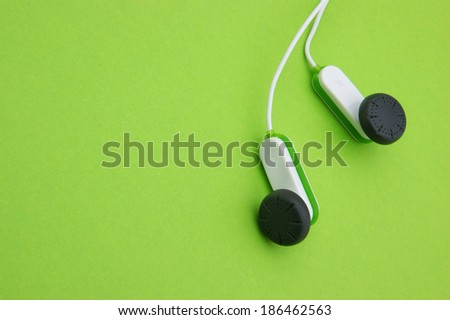 earphones with copy space