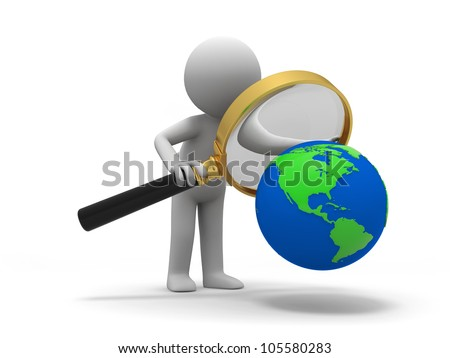 earth/A 3d people in the earth observation