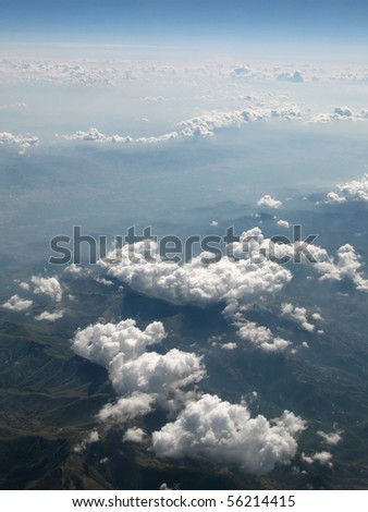 earth, aerial view - stock photo