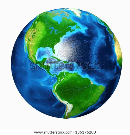 Earth America View - stock photo