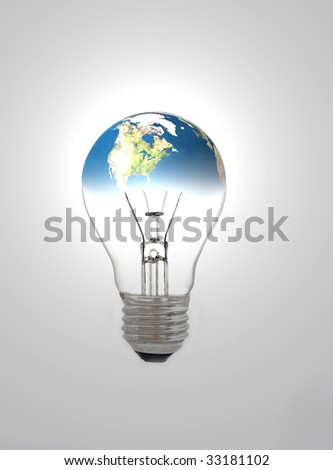Earth and bulb