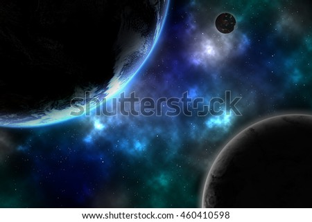 Earth and galaxy. Element of this image furnished by NASA.