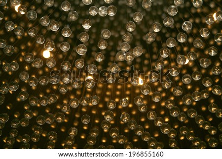 Earth and the satellite system setup chandelier image - stock photo