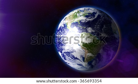 Earth as seen from space - stock photo