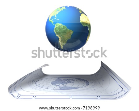 stock photo earth blueprint with floating globe 7198999 architectural plans planet earth เวกเตอร์สต็อก 7137181 shutterstock  at webbmarketing.co