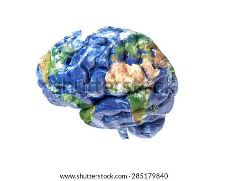 Earth brain - stock photo