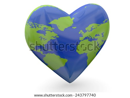 Earth by Heart and love concept
