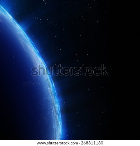 Earth city lights. Elements of this image furnished by NASA