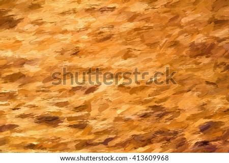 earth colored impasto background  - illustration based on own photo image - stock photo