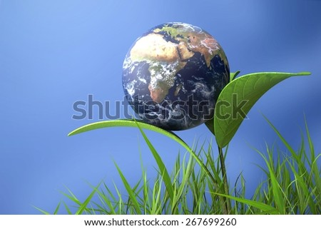Earth. 3D. Save the Earth - stock photo