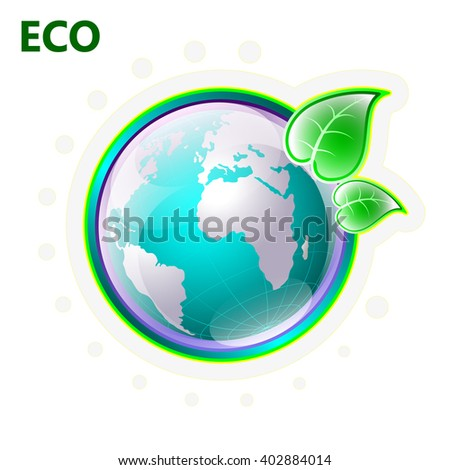 Earth day, illustration on theme ecology