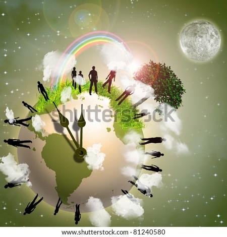 Earth Eco Time - stock photo