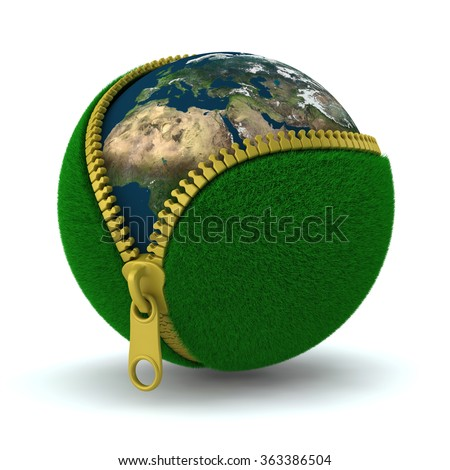 Earth-Elements of this Image Furnished by NASA - stock photo