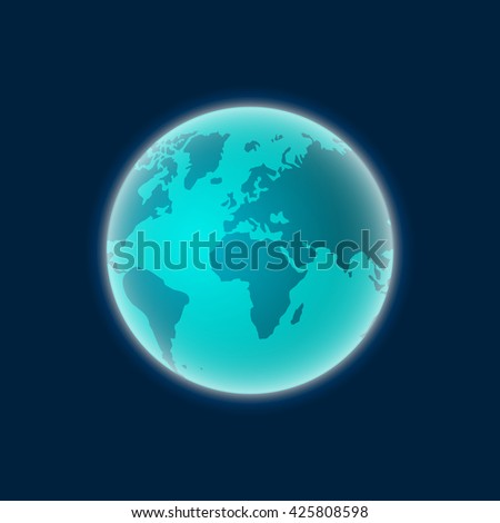 Earth from space, planet earth isolated image
