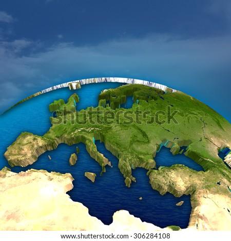 earth globe - stock photo