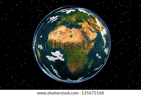 """EARTH GLOBE AFRICA """"Elements of this image furnished by NASA"""" - stock photo"""
