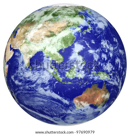 Earth globe cloud map side asia stock illustration 97690979 earth globe cloud map side of the asia and australia the earth texture of gumiabroncs Image collections