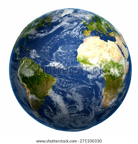 Earth globe. Elements of this image furnished by NASA - stock photo