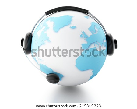 earth globe. global communication concept