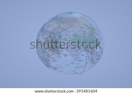 Earth Globe in Motion. Very nice 3D Render - stock photo