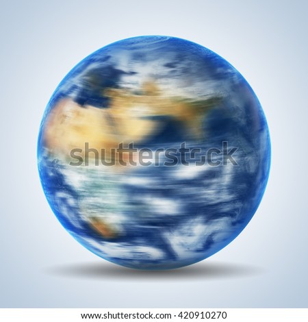 Earth globe over blue background. Elements of this image furnished by NASA - stock photo