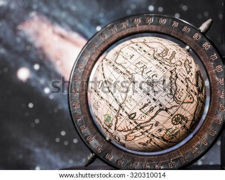 Earth globe showing continent Africa with the universe background. - stock photo
