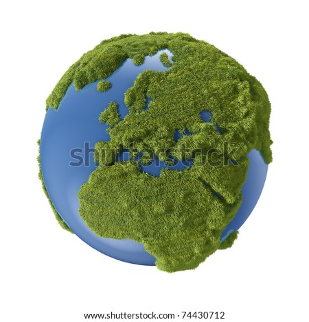 earth grass - stock photo