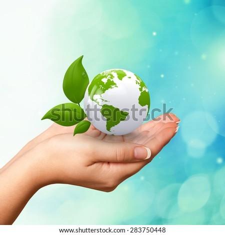 Earth, Green, Globe. - stock photo