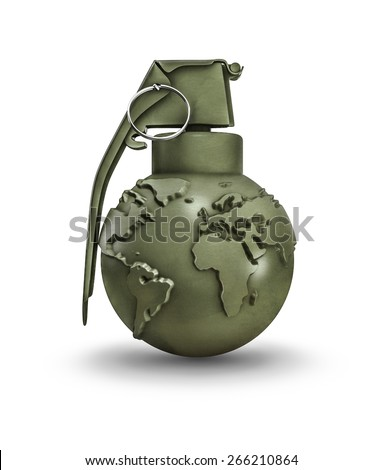Earth grenade - stock photo