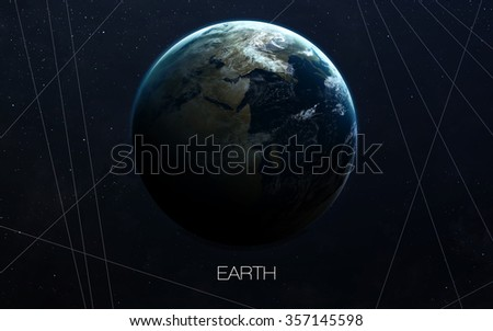 Earth - High resolution images presents planets of the solar system. This image elements furnished by NASA. - stock photo