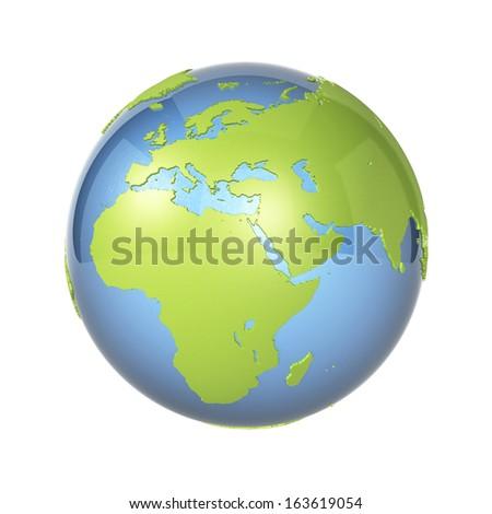 Earth icon - stock photo
