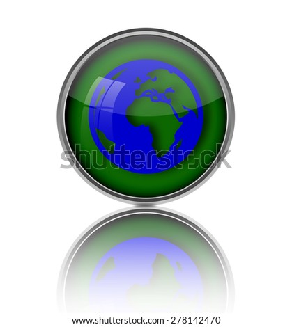 Earth icon button.
