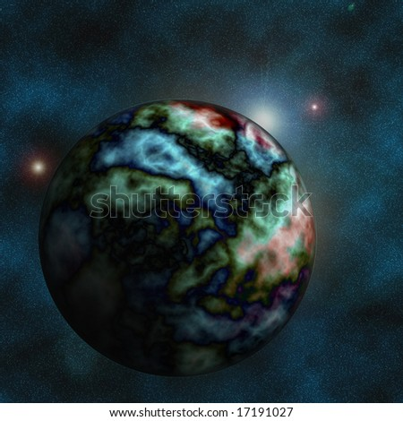Earth in space. - stock photo