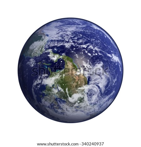 Earth in space vector.Elements of this vector  furnished by NASA