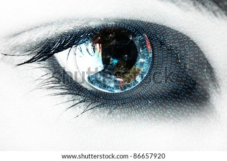 Earth in the eye