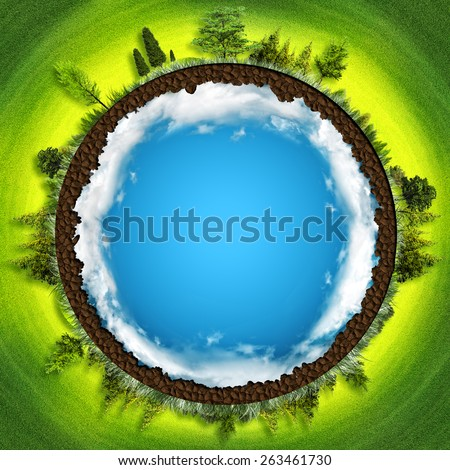 Earth is our home, abstract environmental backgrounds - stock photo