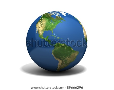 earth isolated in white background