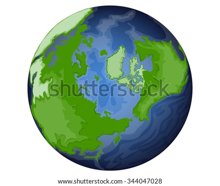 earth isolated on white - stock photo