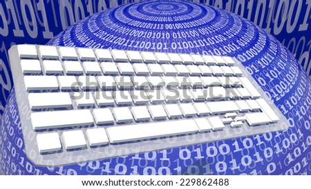 earth keyboard background - social media digital world - enter to world of informatics