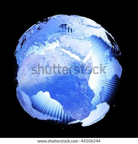 Earth light. Hi-res digitally generated image. - stock photo