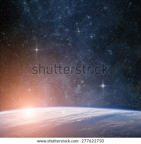 Earth planet. Elements of this image are furnished by NASA