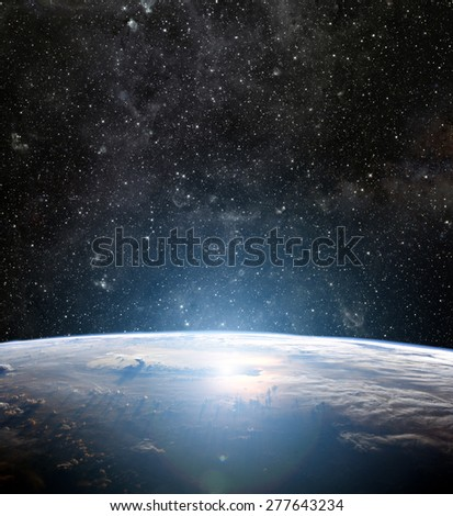 Earth planet. Elements of this image are furnished by NASA - stock photo