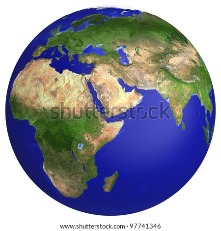 earth planet globe map side of africa and europe the earth texture of this