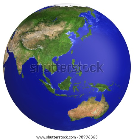 earth planet globe map side of the asia and australia the earth texture of