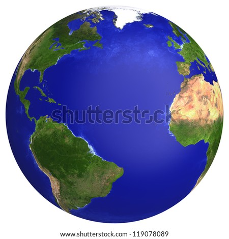 Earth planet globe map side atlantic stock illustration 119078089 earth planet globe map side of the atlantic ocean the earth texture of this gumiabroncs Image collections