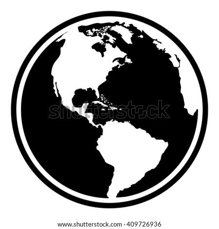 Earth Planet Globe Web Mobile Icon Stock Illustration 409726936