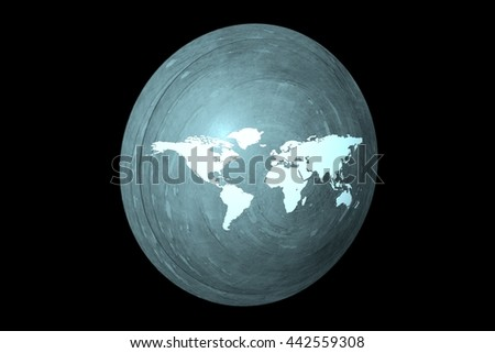 Earth Shield in Motion. Nice 3D Rendering