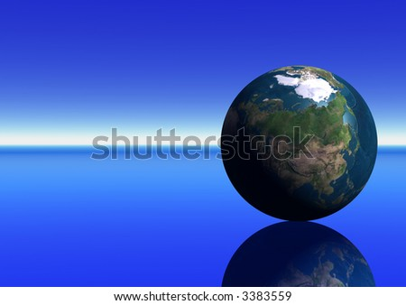 Earth showing Asia