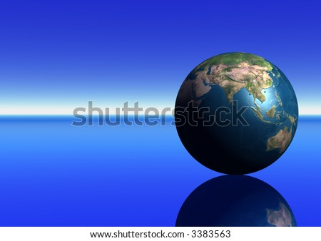 Earth showing Indian Ocean - stock photo
