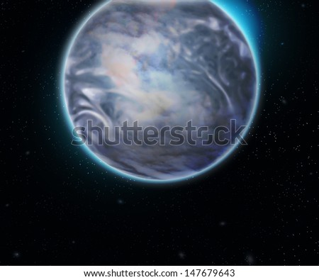 Earth Space Backdrop